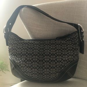 Authentic COACH Hobo Handbag with Signature Print.